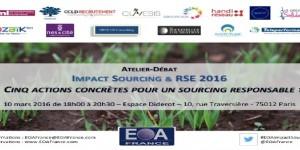 Impact sourcing & RSE 2016 organisé par l'EOA France