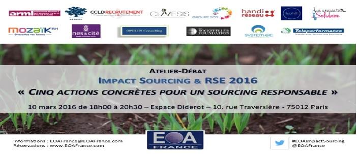 Le 10 mars 2016, TELEPERFORMANCE participera à l'atelier Impact sourcing & RSE 2016 organisé par l'EOA France, Espace Diderot, 10 Rue Traversière – 750012 PARIS.
